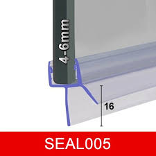 Bathroom Shower Screen Seals Bath Shower Door Seal Seal005 For 4 6mm Glass Gaps To 16mm