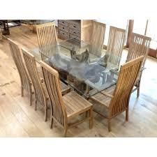teak root dining table base x rectangular glass teak root 8 chairs two with rectangular teak