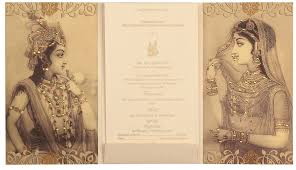 and in wedding card traditional radha krishna wedding cards designer wedding cards