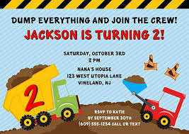 truck birthday party construction invites birthday party construction truck birthday
