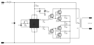 simple 100w inverter circuit 12vdc to 220ac inverter circuit and