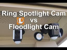 ring security light camera ring floodlight cam vs spotlight camera comparing light output
