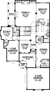 Floor Plans With Courtyard Narrow Lot Stunner With Courtyard 36287tx Architectural