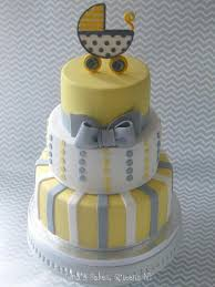amazing yellow and grey baby shower cake 58 for easy baby shower