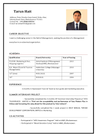 First Job Resume Guide by Tarun Hait Cv