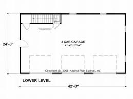 Floor Plans With 3 Car Garage Carriage House Plans Craftsman Style Carriage House With 3 Car