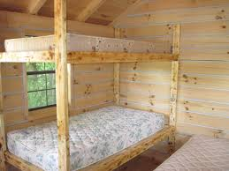 Interesting Oak Unvarnished Queen Bunk Bed In Wood Bedroom For - Queen bunk bed plans