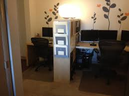 home office small space solutions room divider creates shared
