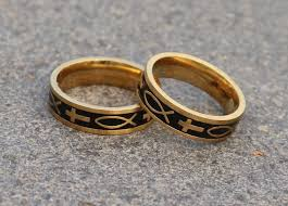 cross gold rings images Box of 36 rings fish cross gold ayat ring 48 ayat online jpg