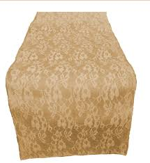 ivory lace table runner 14 burlap and lace table runner with 14 ivory lace 14btrunwlace