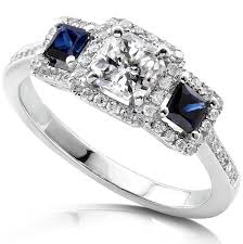 Home Design Diamonds Sapphire And Diamond Wedding Bands 14k White Gold Genuine Blue