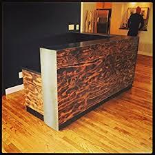 Reclaimed Wood Reception Desk Amazon Com Venice Reception Desk Reclaimed Wood And Metal Multi