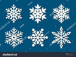 set snowflakes laser cut pattern christmas stock vector 514839730