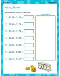 adding money u2013 free printable 5th grade math worksheet u2013 jumpstart