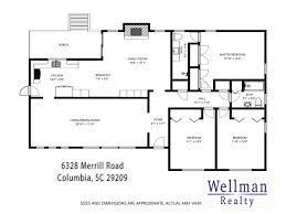 schematic floor plan wellman realty columbia sc 6328 merrill road olde woodlands