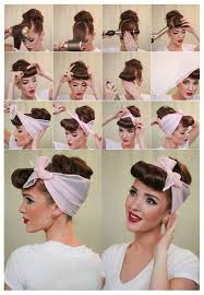 1940s bandana hairstyles 164 best retro hairstyles images on pinterest 1940s hair 1940s