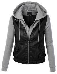 black leather motorcycle jacket leather hooded jacket september 2014