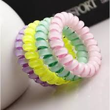 japanese hair accessories 5 offhousalescrunchies telephone coil colored elastic hair bands