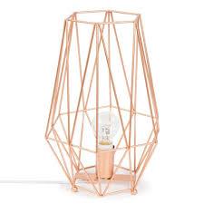 lampe aus metall h 29 cm origami copper deko pinterest