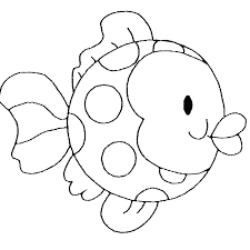 printable 25 simple fish coloring pages 5084 simple fish