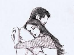 beautiful sketch of couple beautiful pencil drawing of couple love
