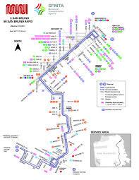 San Francisco Transit Map by 9 San Bruno Bus Route Sf Muni Sf Bay Transit
