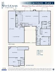 3 Car Garage Floor Plans New California Homes Santa Maria Heritage Square