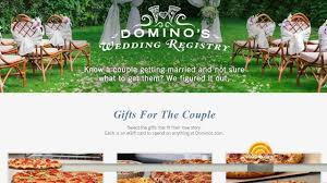 common wedding registry domino s wedding registry just in time for s day g100 1