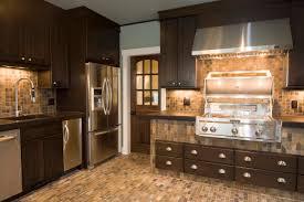 home design craftsman kitchen design with dark kitchen cabinet