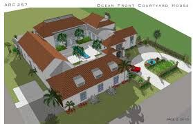 house with courtyard multi story family homes project in cocoa us designed by