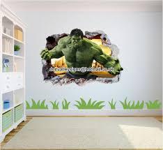 hulk smash 3d wall art sticker mural hulk iron man america marvel