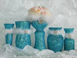 centerpieces for quinceaneras blue wedding decorations wedding reception aqua