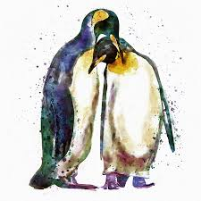 penguin art fine art america