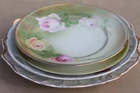 wedding serving dishes shabby vintage roses china trays serving plates floral dishes