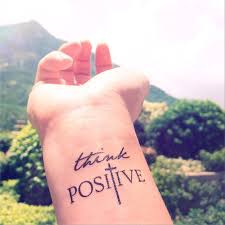 2pcs think positive faith cross inknart temporary tattoo set