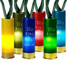 shotgun shell christmas lights 35 multi color shotgun shell mini lights 10 ft