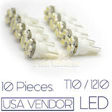 10x 8v 12v dimmable white 6000k 6 led t10 194 168 921 w5w light