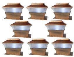 Solar Powered Fence Lights - solar powered plastic copper outdoor post cap square fence lights