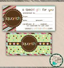 gift cards for small business 22 best gift certificate printables images on