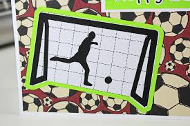 hand crafted soccer birthday card personalized soccer card