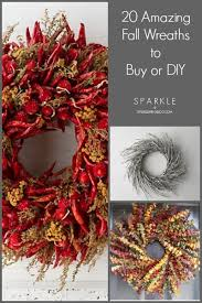 20 amazing fall wreaths to buy or diy sparkle living