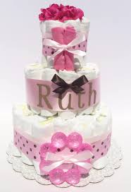 diaper cakes for baby showers diaper cake gifts pink and