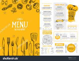 Design Your Own Home Utah Restaurant Cafe Menu Template Design Food Stock Vector 291230057