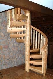 custom wooden spiral staircases ryan u0027s rustic railings
