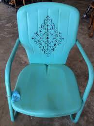 Antique Metal Patio Chairs Repaint Old Metal Patio Chairs Diy Paint Outdoor Metal Motel