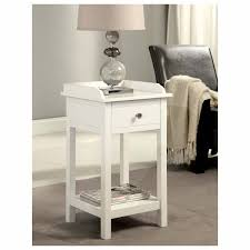 Small Side Desk Brown Coffee Table White Wood Side With Storage