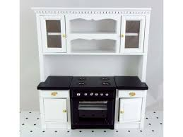 dolls house kitchen furniture fitted kitchen furniture black and white oven unit cupboards