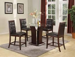 dining room furniture bellagiofurniture store in houston texas bar height brown leather wood dining room set four chairs