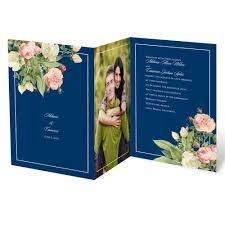 wedding invitations blue brilliant blooms invitation invitations by