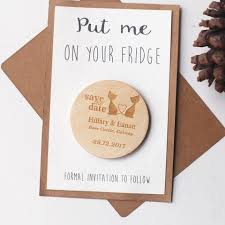 rustic save the date magnets rustic save the dates cat wedding save the date magnet wood